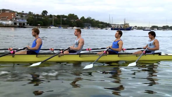 Rowers on Sydney waterway