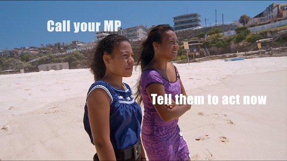 Kiribati climate advocates