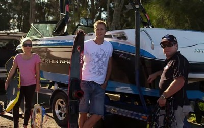 Tow Safe wakeboarding safety video still