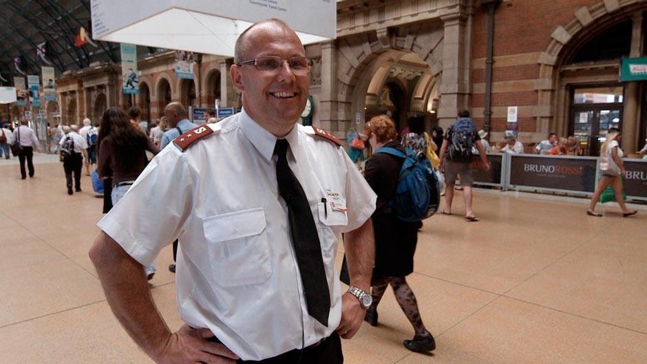 Salvation Army Officer at Sydneys Central Station