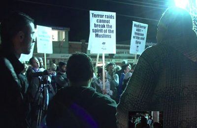Lakemba rally against terrorism raids