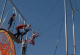 sight-impaired kids on trapeze